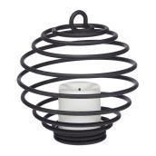 Mini lanternes DEL en métal, ensemble de 4