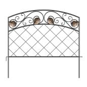 Panacea Bronze Steel Decorative Fence Section - 16-in x 18-in