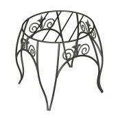 Panacea Round Plant Stand - Steel 8.5-in x 10-in Black