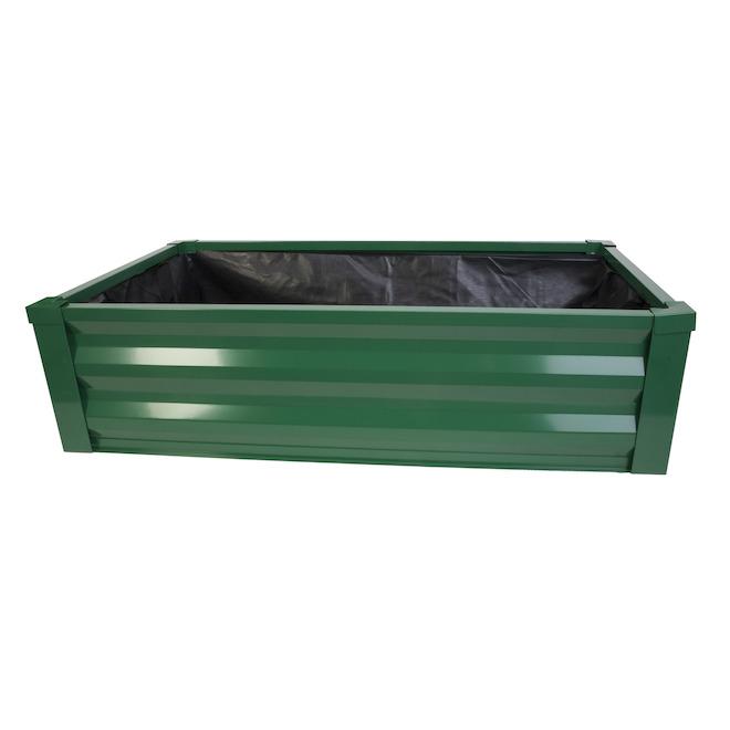 Panacea Green Raised Garden Bed - Steel 48-in x 27-in x 12-in