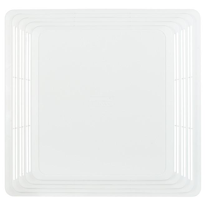 """Grille de ventilateur Deluxe, 11-1/8 x 10-5/8"""", blanc"""