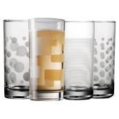 Highball Glasses - Pack of 4 - 485 ml - Assorted Colors