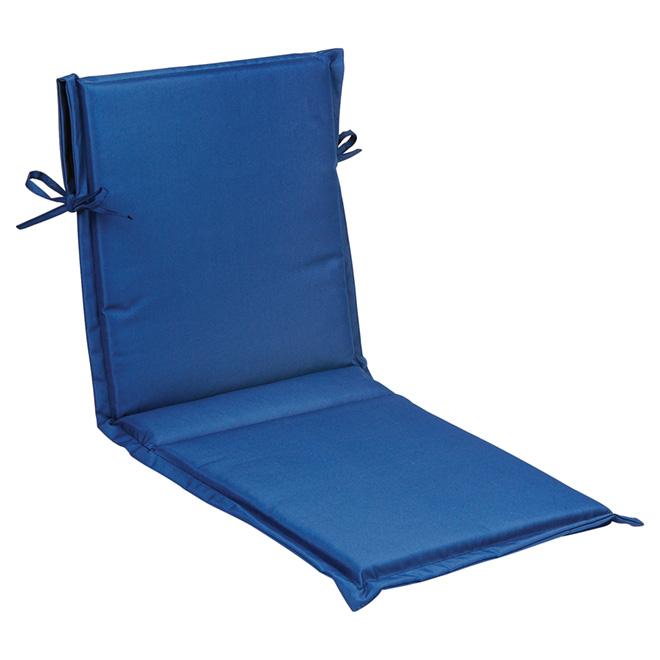 Coussin Pour Chaise De Patio A Dossier Haut Polyester Bleu