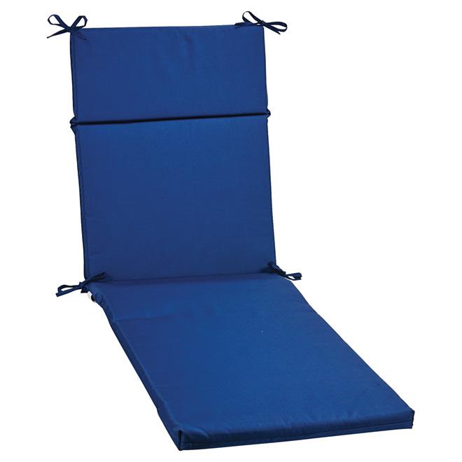 coussin pour chaise longue de patio polyester bleu rona. Black Bedroom Furniture Sets. Home Design Ideas