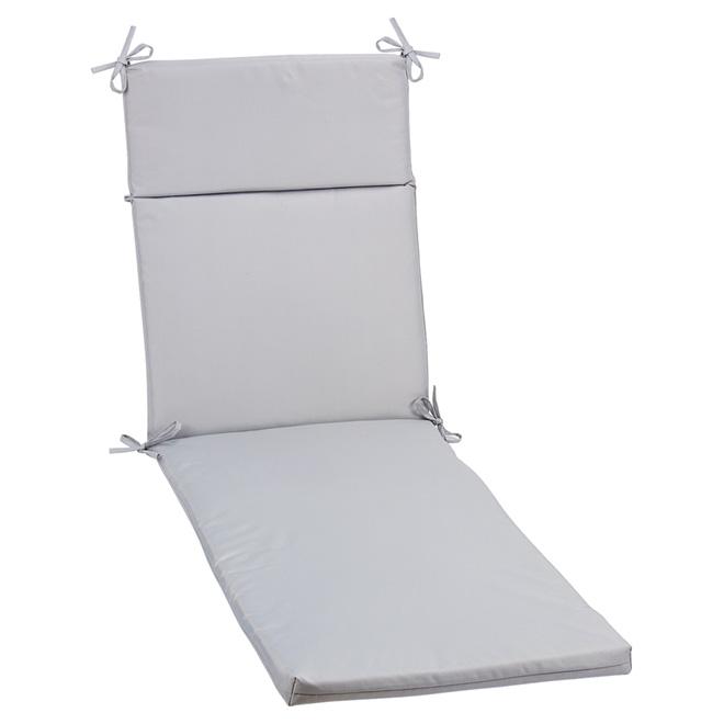 coussin pour chaise longue de patio polyester gris rona. Black Bedroom Furniture Sets. Home Design Ideas
