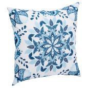 Patio Decorative Cushion - Kingsbury - White/Blue