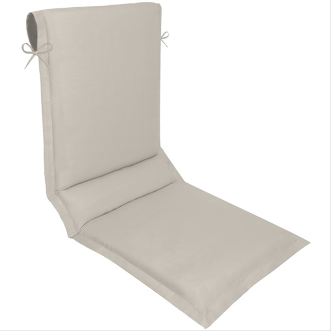 Coussin Pour Chaise Longue Polyester 19 X 49 Taupe Rona