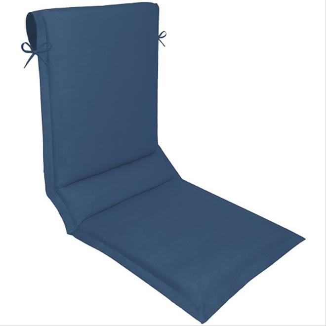 coussin pour chaise longue polyester 19 x 49 bleu rona. Black Bedroom Furniture Sets. Home Design Ideas