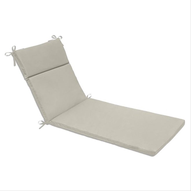 Coussin Pour Chaise Longue Polyester 22 X 70 Taupe Rona