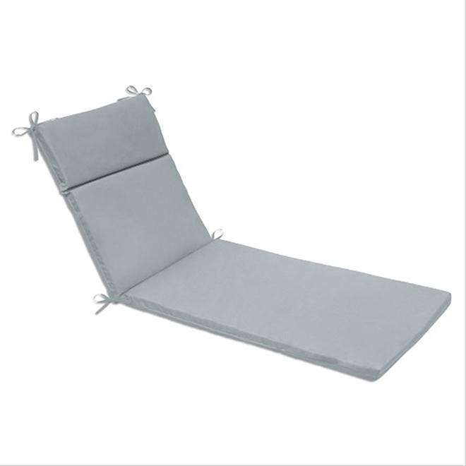 "Coussin pour chaise longue, polyester, 22"" x 70"", gris"
