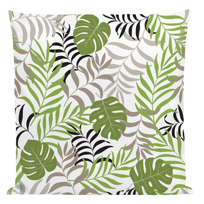 """Coussin décoratif pour patio, polyester, 17"""" x 17"""", vert"""
