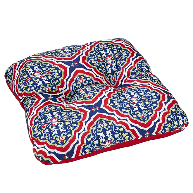 "Coussin pour chaise de patio, polyester, 20"" x 18"", damas"