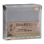 Super Soft Sheet Set - Double Bed - Solid Charcoal