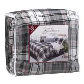 "Comforter Set - 90"" x 90"" - Gray and Red"