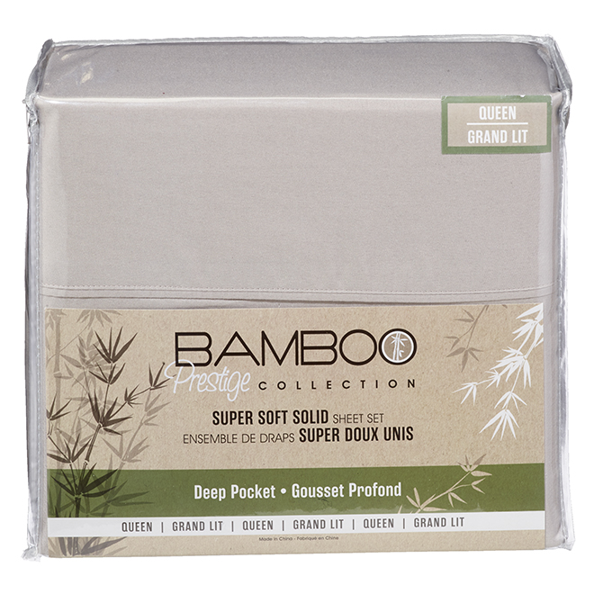 Polyester Sheet Set - Queen Size - Light Beige