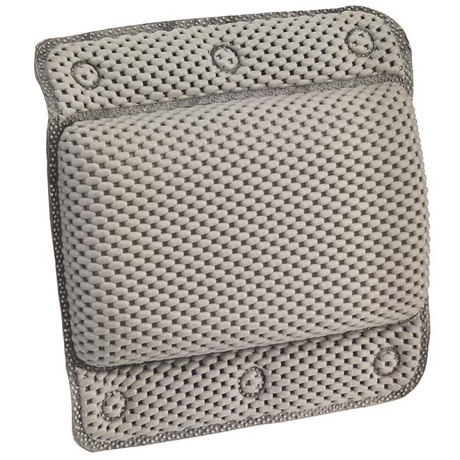 Head Rest - Suction Cups - PVC - 29 x 31 cm - Grey