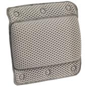 Repose-tête à ventouse, PVC, 29 x 31 cm, gris