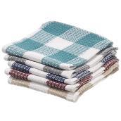 Paquet de 5 lavettes de coton, 14'' x 15'', couleurs assorties