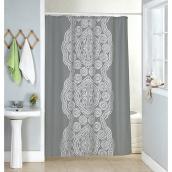 Rideau de douche en polyester et crochets, 70