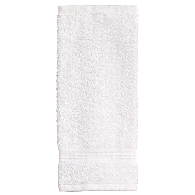 Allure Cotton Face Cloths - White - 2 Pack