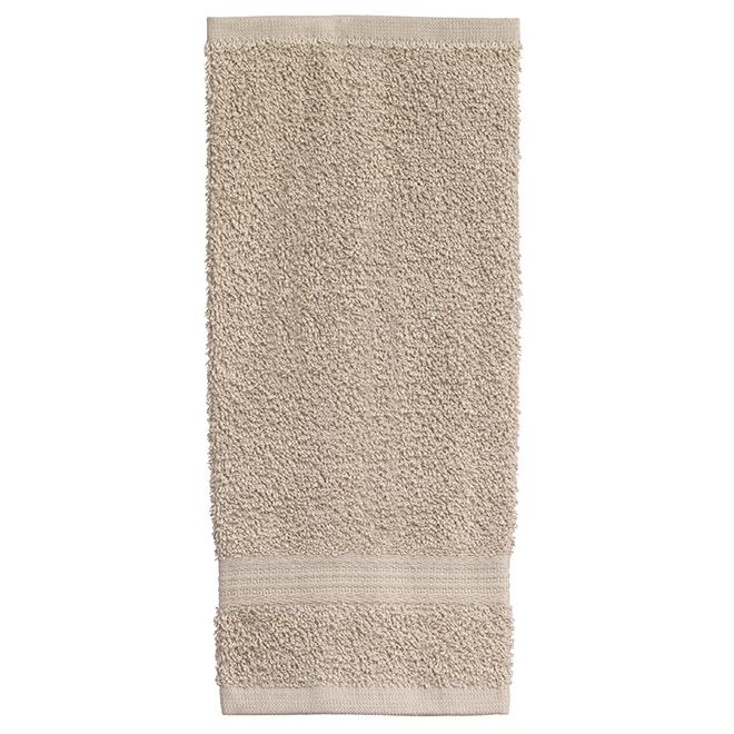 Allure Cotton Face Cloths -  Sand - 2 Pack