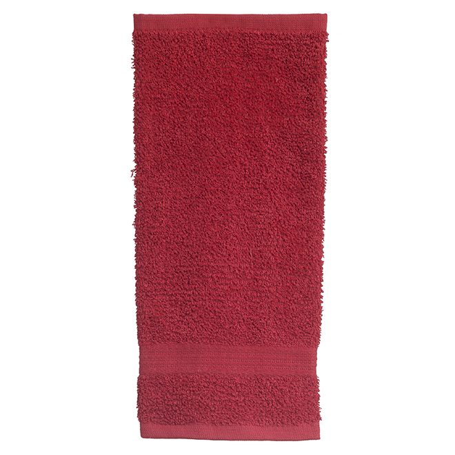 Allure Cotton Face Cloths -  Red - 2 Pack