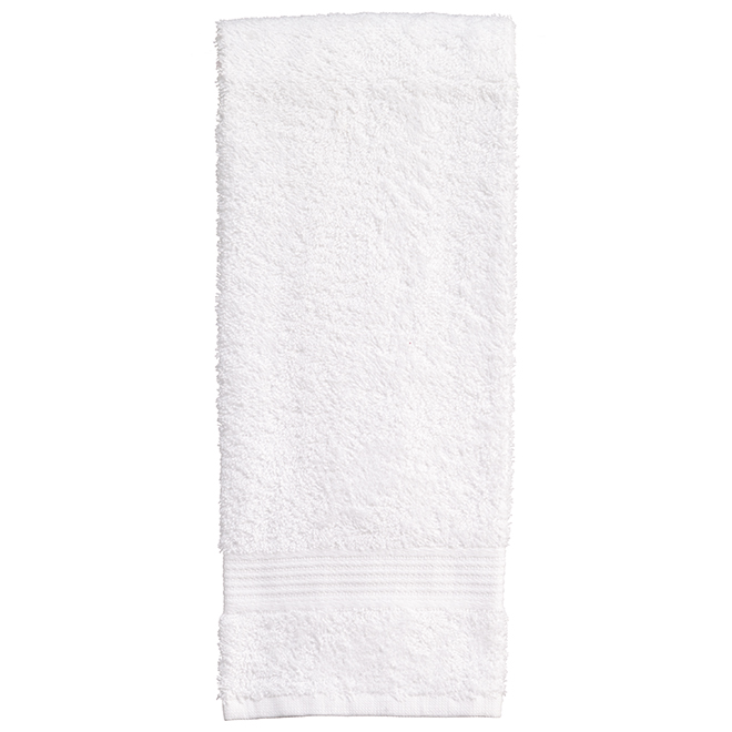 Allure Cotton Hand Towels - White - 2 Pack