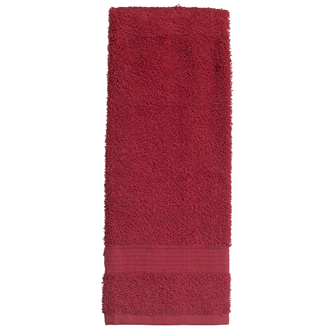 Allure Cotton Hand Towels - Red - 2 Pack