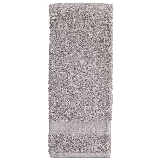 Allure Cotton Hand Towels - Silver - 2 Pack