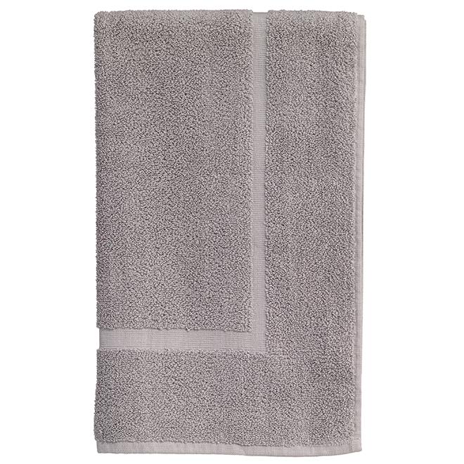 Tapis de salle de bain en coton Allure, argent
