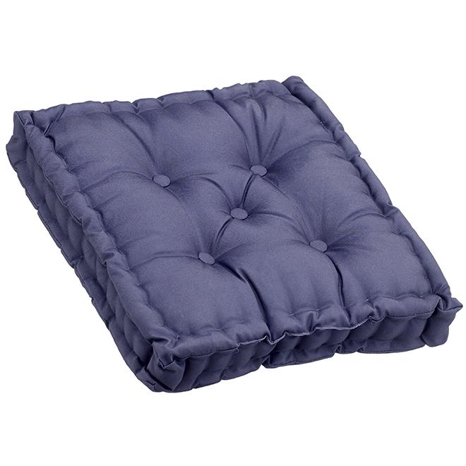 """Coussin pour chaise de patio, polyester, 20 x 20 x 4"""", bleu"""
