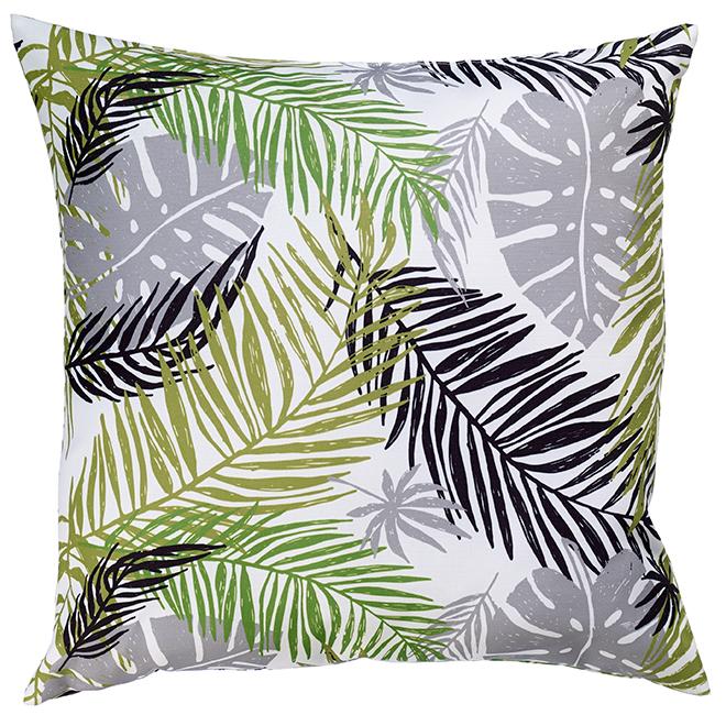 """Coussin décoratif pour patio, polyester, 17"""" x 17"""", feuilles"""