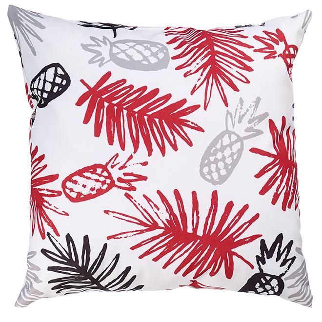 "Decorative Patio Cushion - Polyester - 17"" x 17"" - Pineapple"