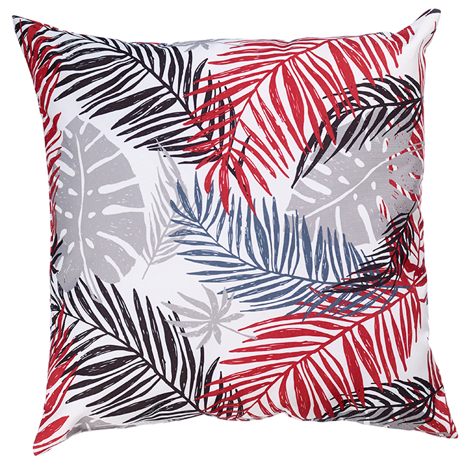 "Decorative Patio Cushion - Polyester - 17"" x 17"" - Leaves"