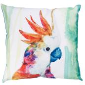 "Decorative Patio Cushion - Polyester - 17x17""- Parrot"