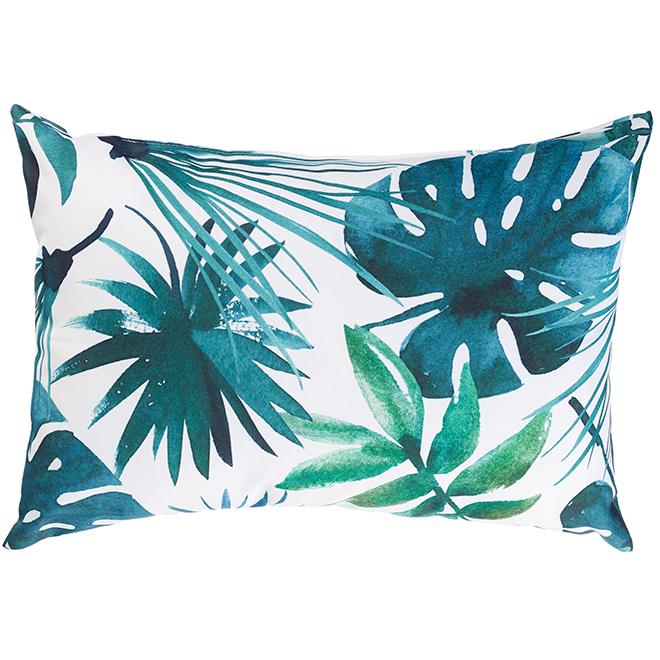 """Coussin décoratif pour patio, polyester, 12x18"""", feuilles/déco"""
