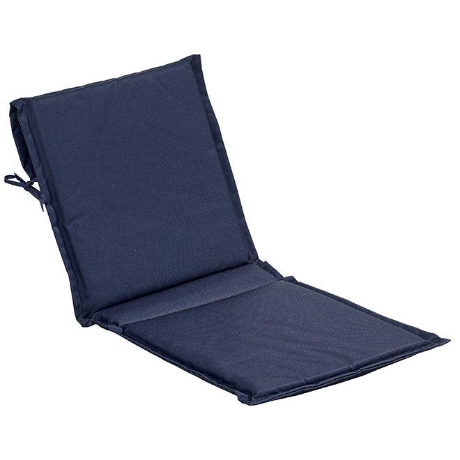 "Coussin de chaise avec dossier, polyester, 19 x 49 x 2"", bleu"