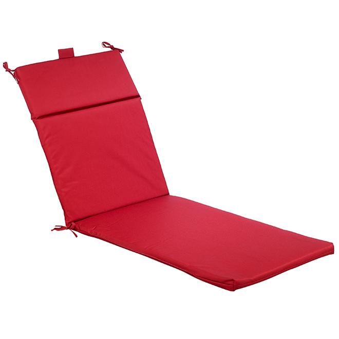 """Coussin de chaise longue avec dossier, 22 x 70 x 2"""", rouge"""
