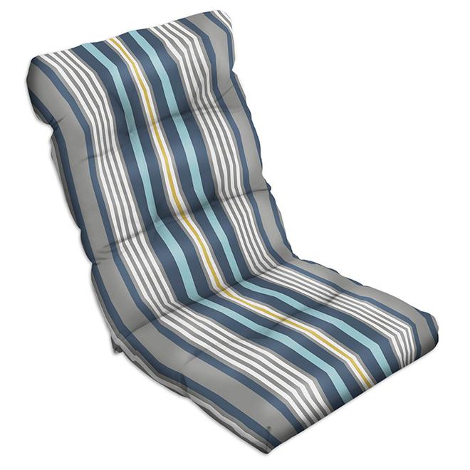 Chair Cushion Polyester 47 X 20 X 4 Stripegrey Rona