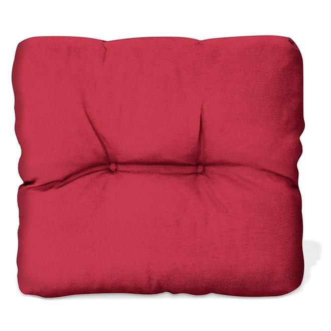 """Coussin de siège, polyester, 20"""" x 18"""" x 4,17"""", fleurs/rouge"""