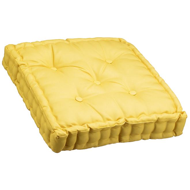 """Coussin de siège, polyester, 20"""" x 20"""" x 4"""", doré"""