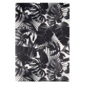 Placemats - Polypropylene Fabric - 13'' x 19'' - Black/White