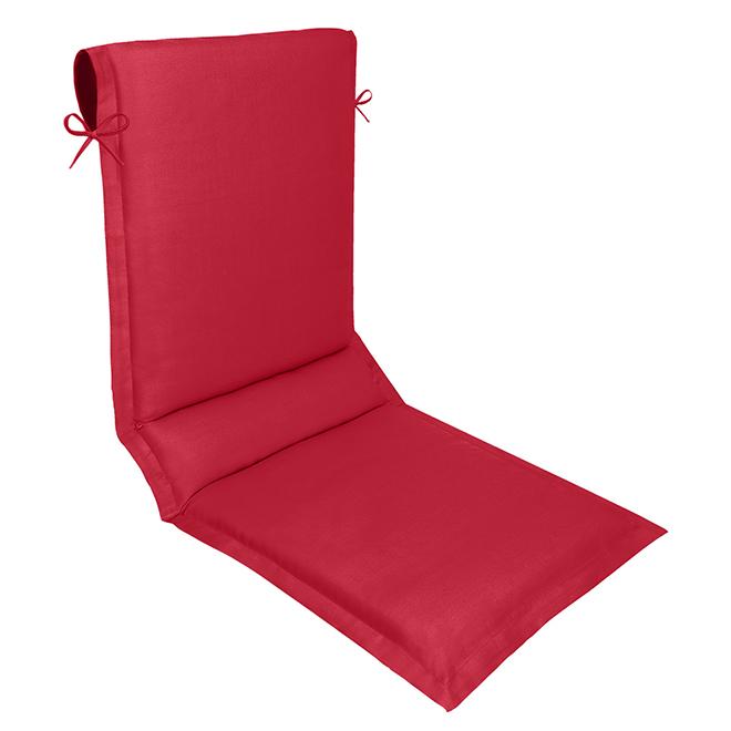 Coussin à haut dos réversible, polyester, 19 x 49 po, rouge