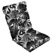 Coussin haut dos, polyester, 47 x 20 x 4'', noir/blanc