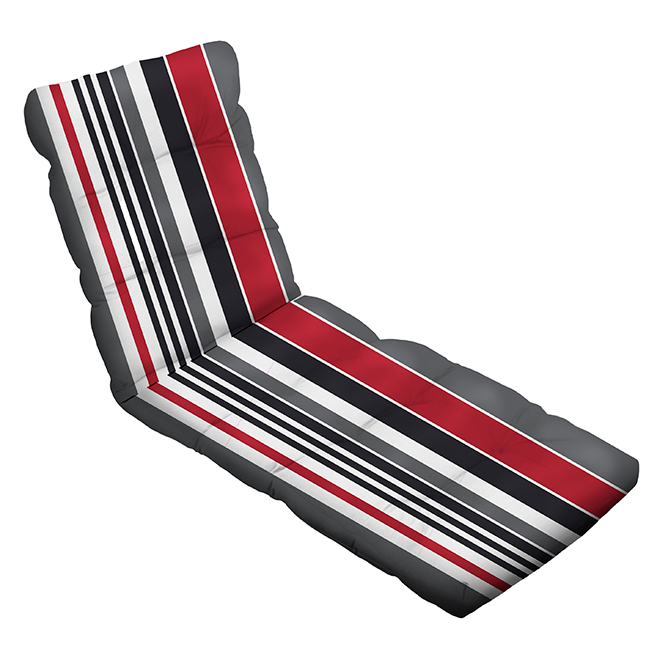 Lounge Chair Cushion - Polyester - 4.5 x 20 x 70-in - Striped