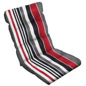 High Back Cushion - Polyester - 4 x 20 x 47-in - Striped