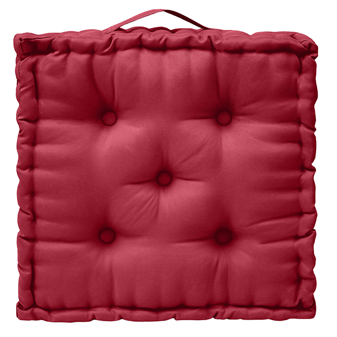 Square Outdoor Cushion - Polyester - 20-in x 4-in - Red