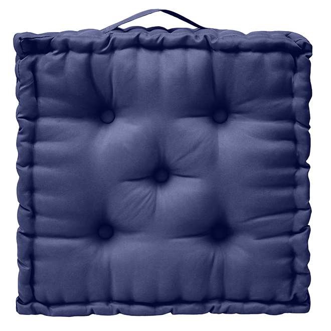 Square Outdoor Cushion - Polyester - 20-in x 4-in - Blue