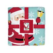 Holiday Living Polyester Christmas Throw - Santa - 48-in x 60-in