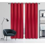 Safdie & Co Blackout Woven Curtain - 54-in x 84-in - Polyester - Red